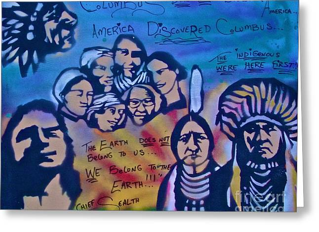 Occupy Greeting Cards - Indigenous Respect Greeting Card by Tony B Conscious