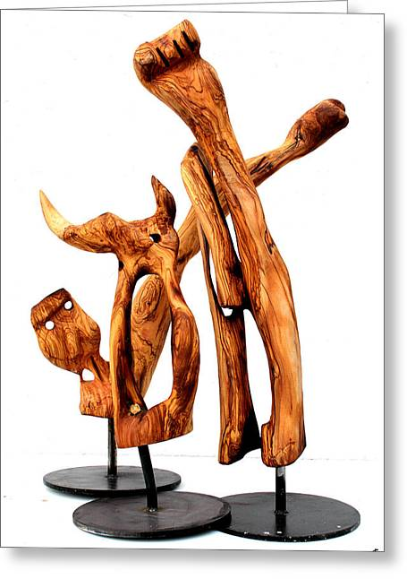 Olive Sculptures Greeting Cards - Indignados 4 Greeting Card by Jorge Berlato