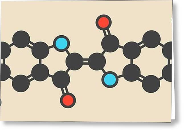 Indigo Carmine Molecule Greeting Card by Molekuul