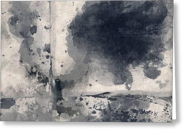 Grey Clouds Greeting Cards - Indigo Clouds 1 Greeting Card by Carol Leigh
