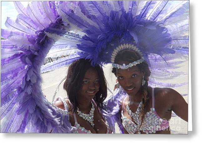 Fancy-dancer Greeting Cards - Indigo Party Girls of Toronto Caribbean Festival Greeting Card by Lingfai Leung