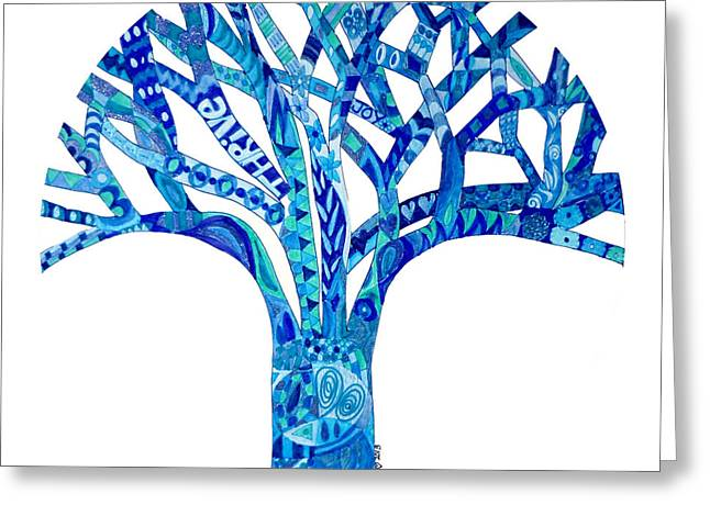 Indigo Chakra Greeting Cards - Indigo Tree Chakra 6 Greeting Card by Keleki Love