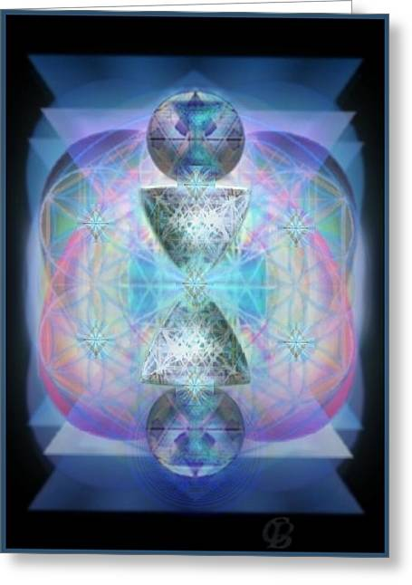 Indigoaurad Chalice Orbing Intwined Hearts Greeting Card by Christopher Pringer