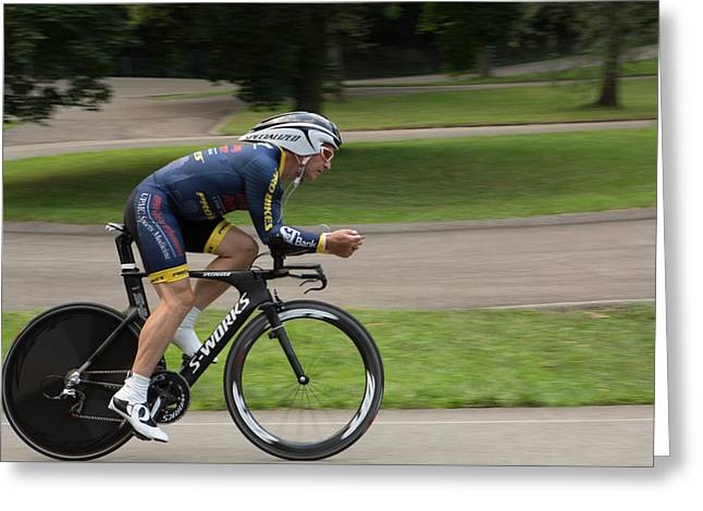 Time Trials Greeting Cards - Individual Time Trial July 11 006 Greeting Card by Mark Milar