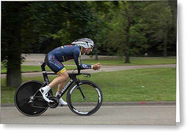 Time Trials Greeting Cards - Individual Time Trial July 11 010 Greeting Card by Mark Milar