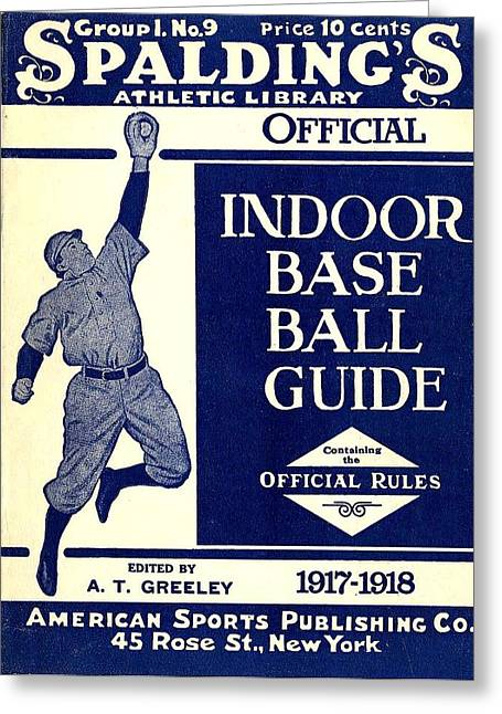 1907 Digital Greeting Cards - Indoor Base Ball Guide 1907 II Greeting Card by American Sports Publishing