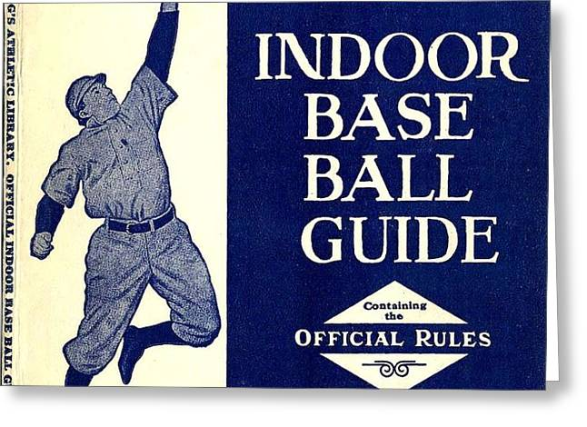 Indoor Base Ball Guide 1907 II Greeting Card by American Sports Publishing