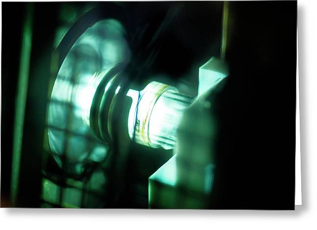 Inductively Coupled Plasma Lamp Greeting Card by Crown Copyright/health & Safety Laboratory Science Photo Library