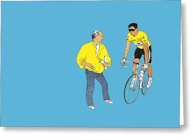 Bike Race Greeting Cards - Indurain Greeting Card by Eliza Southwood