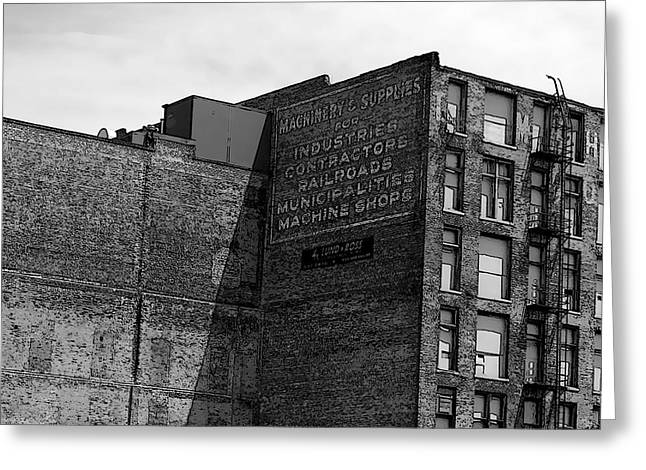 Ghost Signs Greeting Cards - Industrial Ad Sketch Greeting Card by Brandon Addis