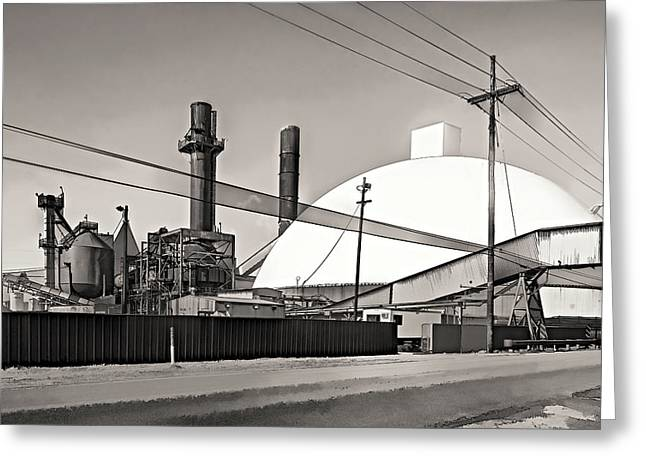 Manufacturing Digital Greeting Cards - Industrial Art 2 sepia Greeting Card by Steve Harrington