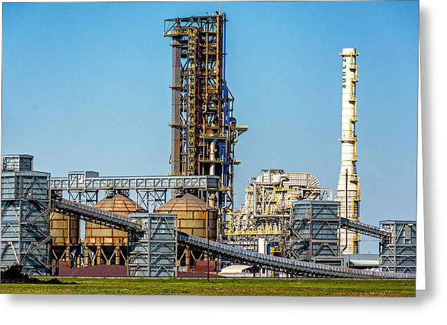 Manufacturing Greeting Cards - Industrial Art Greeting Card by Steve Harrington