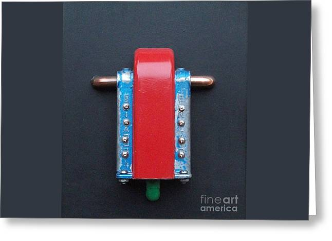 Landscape Posters Reliefs Greeting Cards - Industrial Assemblage Greeting Card by Roy Isaacs