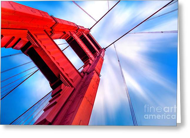 Looking Up Greeting Cards - Industrial Boom Greeting Card by Az Jackson