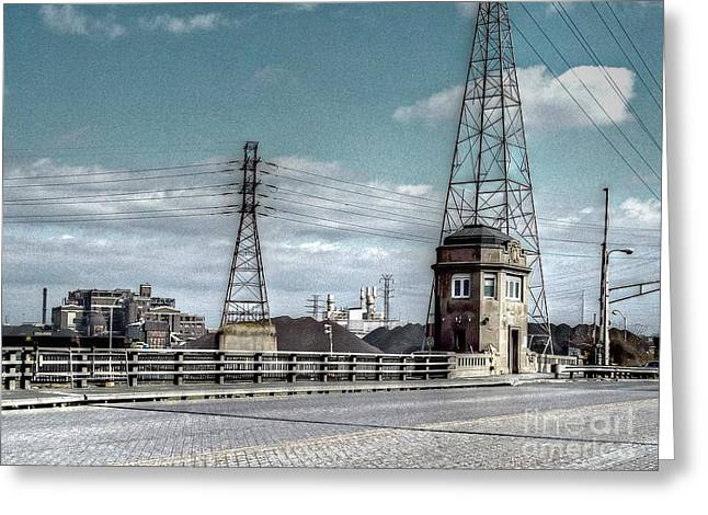 Mj Photographs Greeting Cards - Industrial Detroit Greeting Card by MJ Olsen