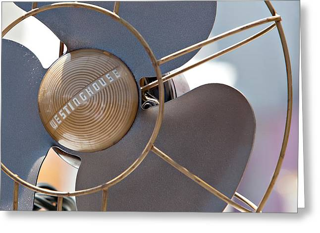 Electric Fan Greeting Cards - Industrial Fan Greeting Card by Art Block Collections