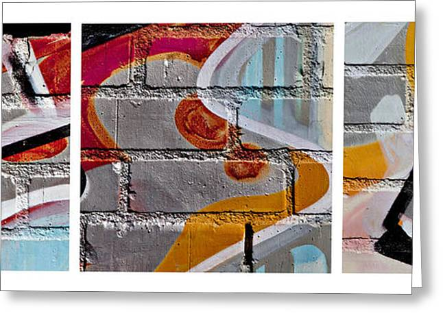 Industrial Graffiti Greeting Card by Art Block Collections