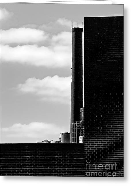 Smokestack Greeting Cards - Industrial Grunge 21 Greeting Card by Patrick M Lynch