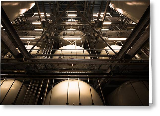 Industrial Interior Greeting Card by Peter Maroti
