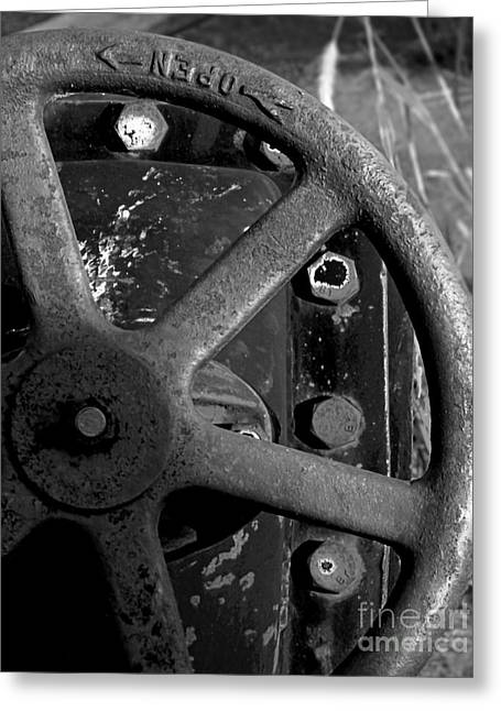 Iron Greeting Cards - Industrial Object Art 2 - BW Greeting Card by James Aiken