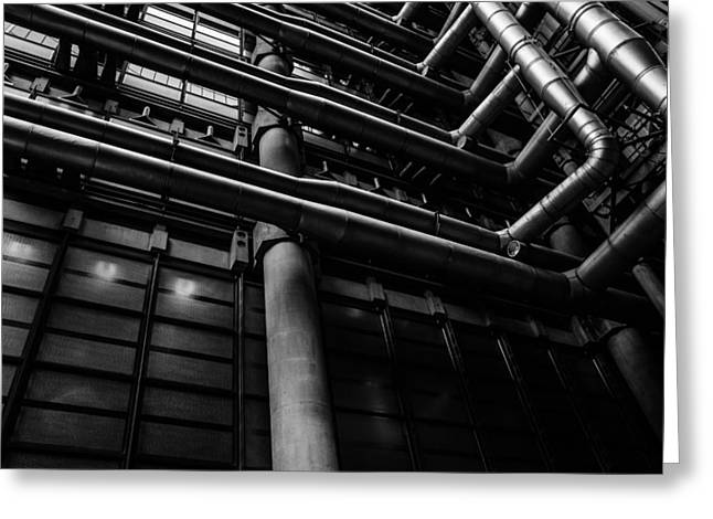 Power Plants Greeting Cards - Industrial Pipes Greeting Card by Pati Photography