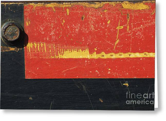 Chipping Paint Greeting Cards - Industrial Rustic Abstract Greeting Card by Anahi DeCanio