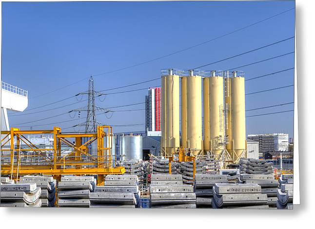 Industrial Scene With Concrete Greeting Card by Fizzy Image