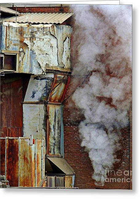 Concord Greeting Cards - Industrial Smoke Greeting Card by Marcia Lee Jones
