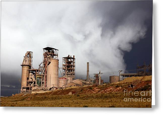 Electric Pylon Greeting Cards - Industrial Storm Greeting Card by James Brunker