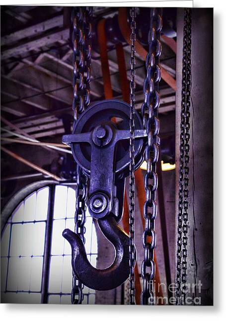 Metal Worker Greeting Cards - Industrial Strength Chains Greeting Card by Paul Ward