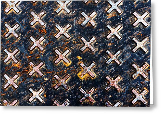 Industrial Background Greeting Cards - Industrial Textures On Sewer Greeting Card by Mikel Martinez de Osaba