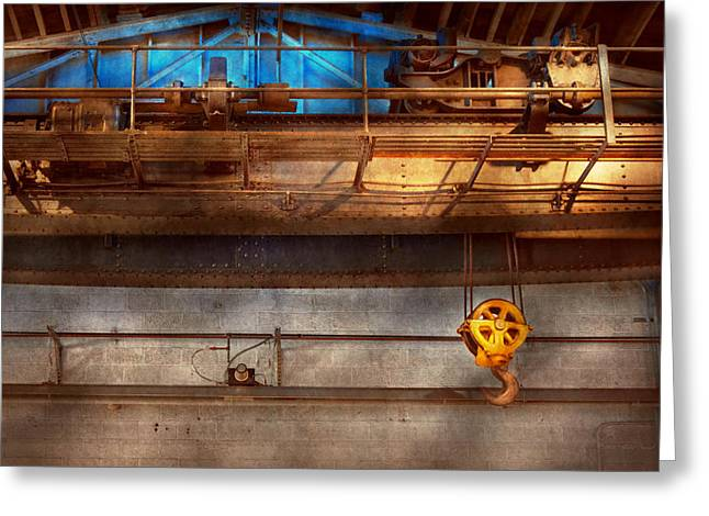 Fashion Setting Greeting Cards - Industrial - The gantry crane Greeting Card by Mike Savad