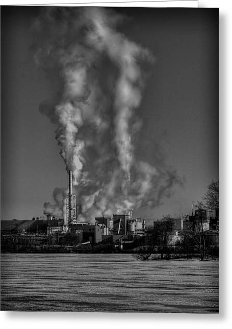 Menasha Greeting Cards - Industry in Black and White 2 Greeting Card by Thomas Young