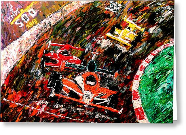 Marco Andretti Greeting Cards - Indy 500  Greeting Card by Mark Moore