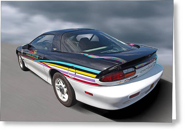 Indianapolis 500 Greeting Cards - Indy 500 Pace Car 1993 - Camaro Z28 Greeting Card by Gill Billington