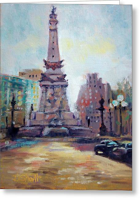 Donna Shortt Greeting Cards - Indy Circle Back-lit Greeting Card by Donna Shortt