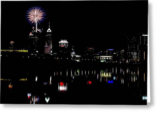 Indy Fireworks Greeting Card by Joji Ishikawa