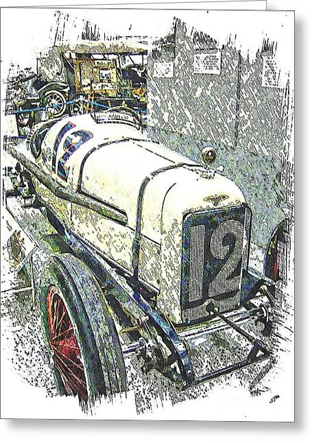 Indy Car Greeting Cards - Indy Race Car 2 Greeting Card by Spencer McKain
