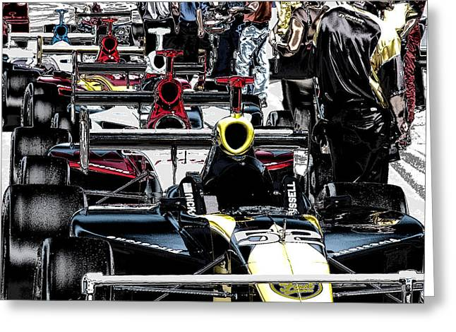 Indy Time Greeting Card by Kevin Cable