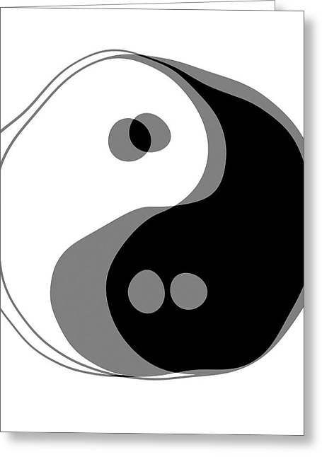 Yang Greeting Cards - Inebriated Yin Yang Greeting Card by Daniel Hagerman
