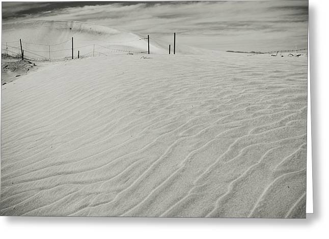 Sand Pattern Greeting Cards - Inevitable Greeting Card by Laurie Search