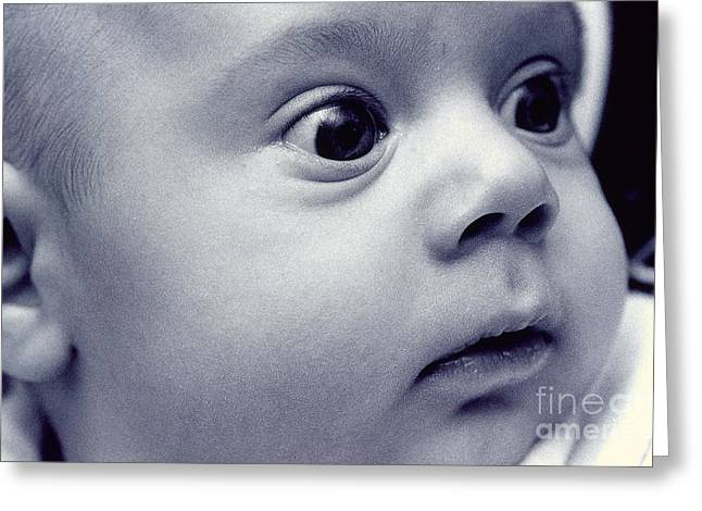 Child Care Greeting Cards - Infant Greeting Card by Jean-Michel Girand