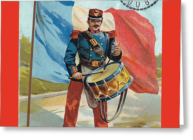 Infantry of the Line Drummer with FGB border Greeting Card by A Morddel