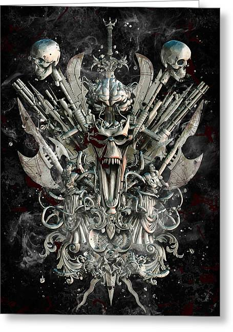 Macabre Guns Greeting Cards - Infectious Delusion Greeting Card by Pixel Chemist