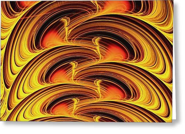 Inferno Greeting Card by Anastasiya Malakhova