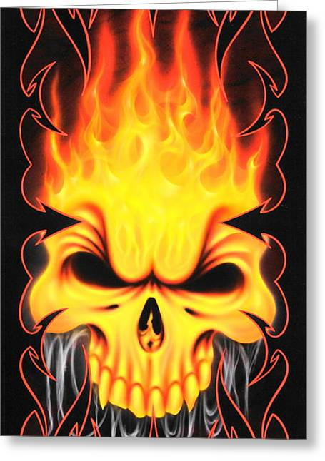 Kustom Graphics Greeting Cards - Inferno Greeting Card by Augustine Mattei