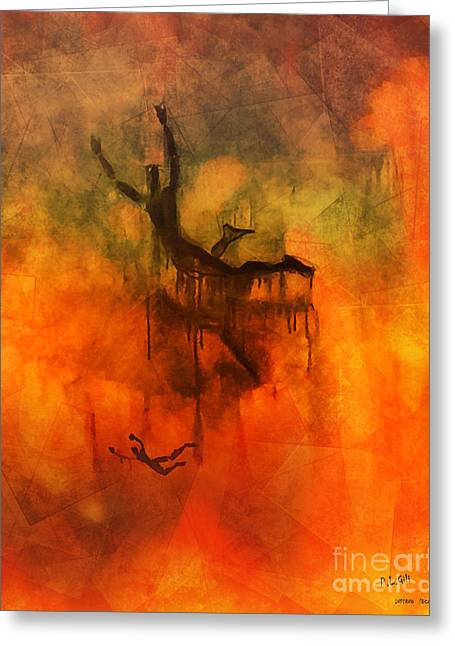 Damnation Greeting Cards - Inferno Greeting Card by Pedro L Gili