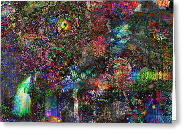 Psychedelic Owl Greeting Cards - Infinite Bit 1 Greeting Card by Jerry Cannon
