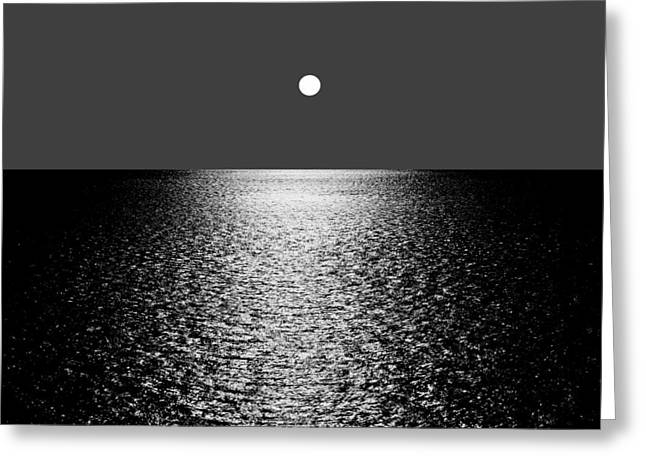 Recently Sold -  - Sea Moon Full Moon Greeting Cards - Infinite Calm Greeting Card by Bishopston Fine Art