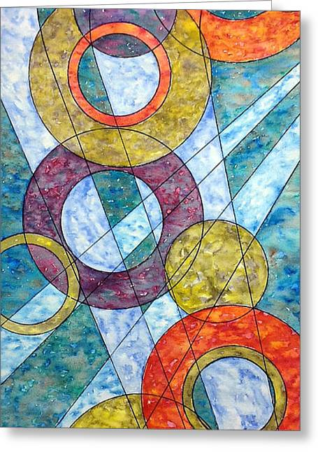 Glass Wall Drawings Greeting Cards - Infinite Loop Greeting Card by Rebecca Davis
